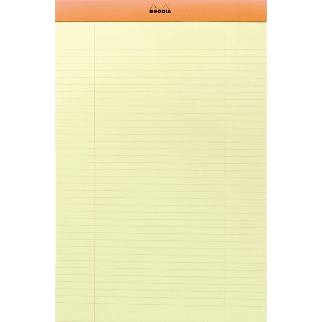 Rhodia Orange Stapl.pad 80 sh. Yellow 21