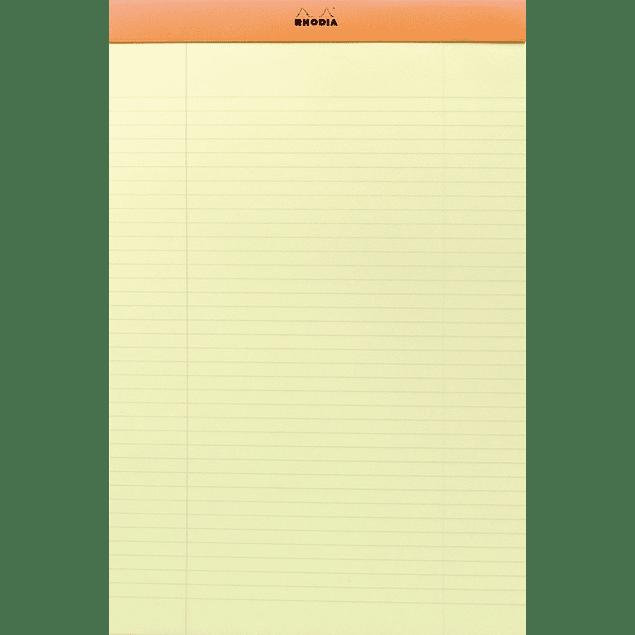 Rhodia Orange Stapl.pad 80 sh. Yellow 21