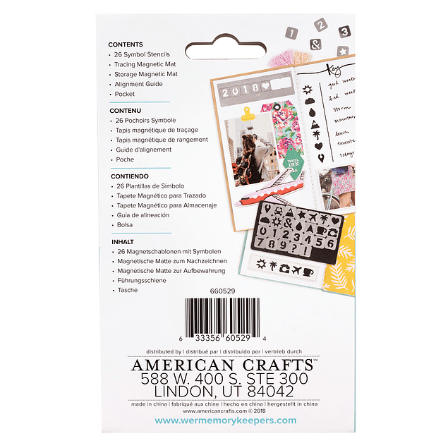 We R Memory Keepers - Journal Studio Collection - Magnetic Symbol Stencils