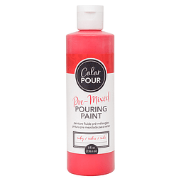 Color Pour Collection - Pre-Mixed Metallic Pouring Paint - Ruby