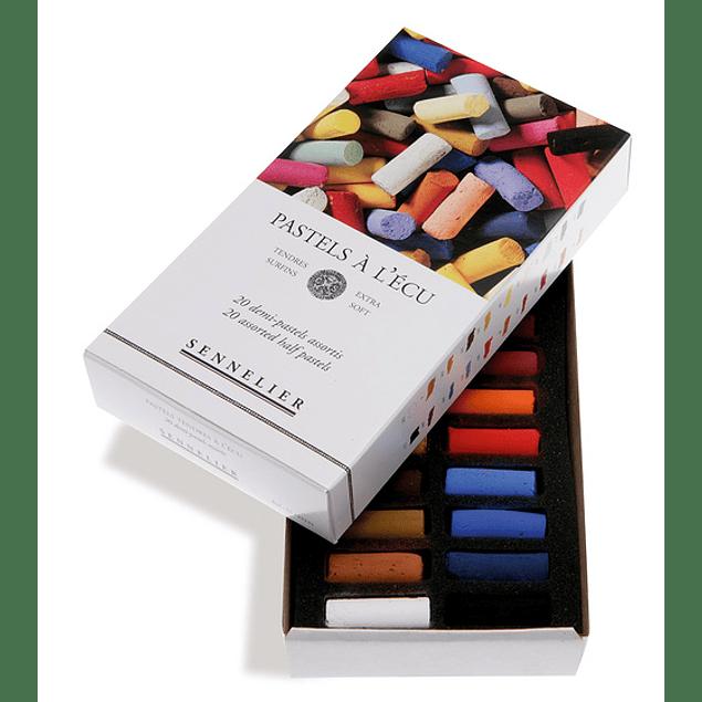 Caja de Cartón Pastel À L'ecu Sennelier 20 Medios Pasteles