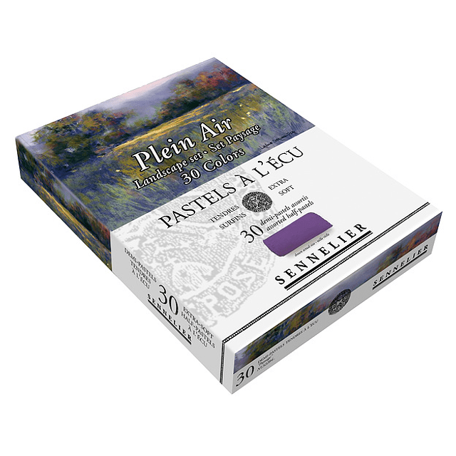 """Caja de Cartón Pastel À L'ecu Sennelier 30 Medios Pasteles, """"Paysage"""""""