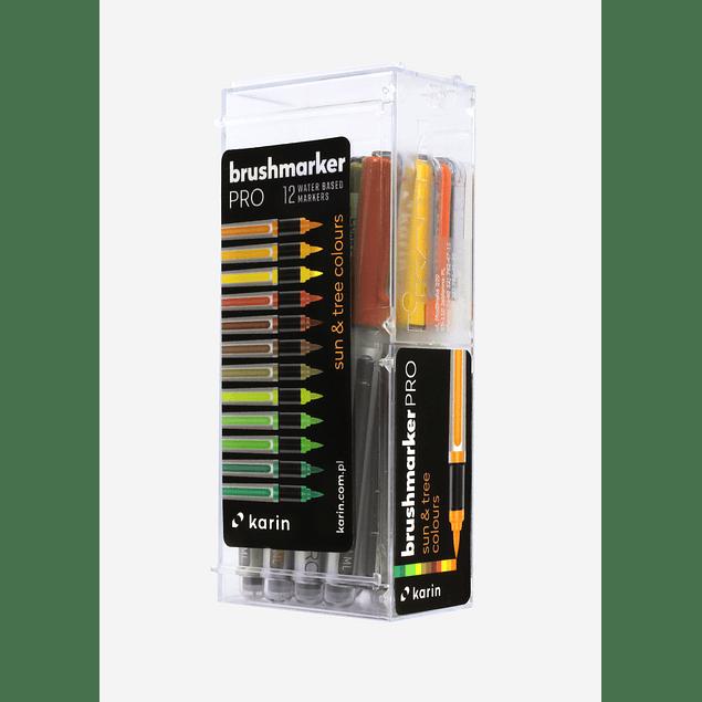 BrushmarkerPRO | 12 Sun & Tree Colours Set