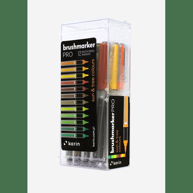 BrushmarkerPRO   12 Sun & Tree Colours Set