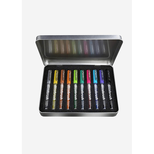 DécoBrush Metallic | 10 colours set