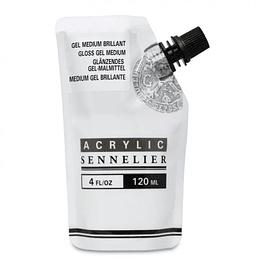 Sennelier Abstract Acrylic Gloss Gel Medium, 120 ml.