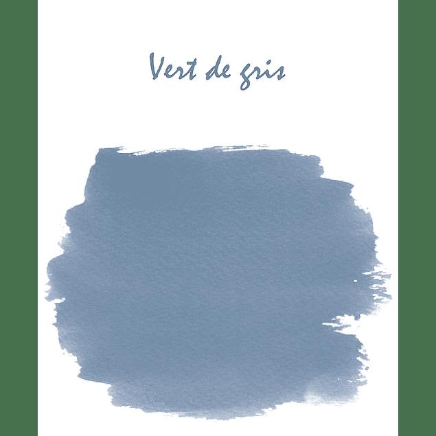 Cilindro con 6 cartuchos de tinta vert de gris