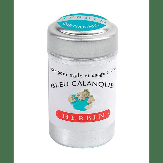 Cilindro con 6 cartuchos de tinta Bleu Calanque