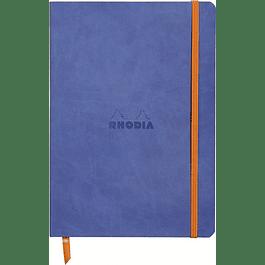 Rhodiarama Soft Cover A5, Safiro, Líneas.