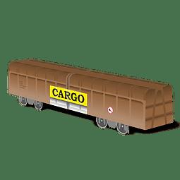 """Cardboard wagon Mini Subwayz Theme: """"CARGO"""" Train"""