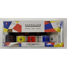 Sennelier Primary - Tinta de dibujo (5 x 30 ml)