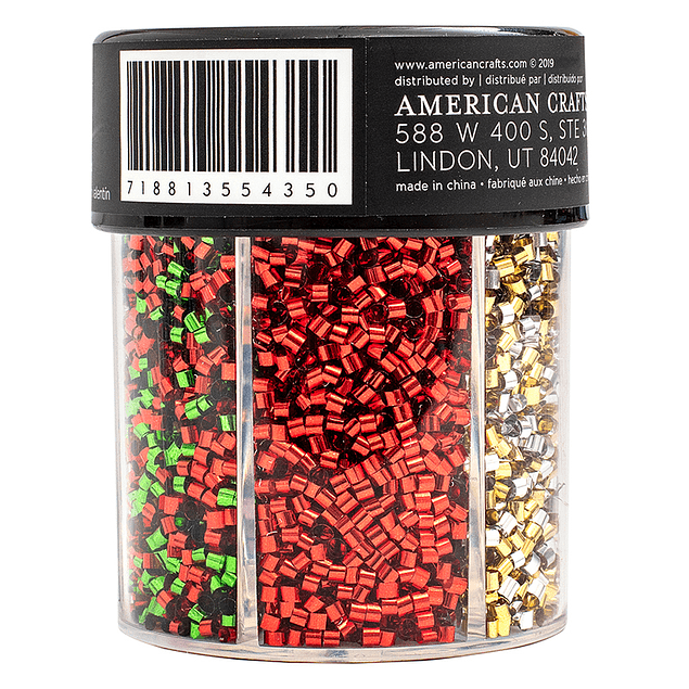 American Crafts - Moxy Bottled Glitter - Tube Confetti - Holiday
