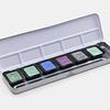 """5 colores nacarados + 1 flip-flop de 30 x 22 mm en una caja de metal """"Fríos"""""""
