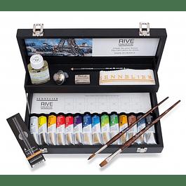 Estuche Sennelier con pinturas al óleo Rive Gauche