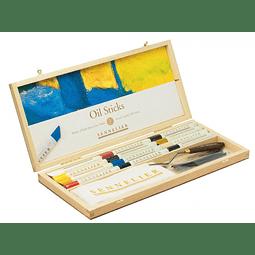Pastel al óleo Sennelier Stick Set con 12 barras 38ml