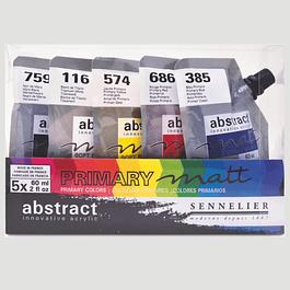 Set Colores Primarios - Matt Abstract