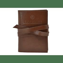 Cuaderno de bocetos Sennelier Le Voyageur en estuche de cuero marrón