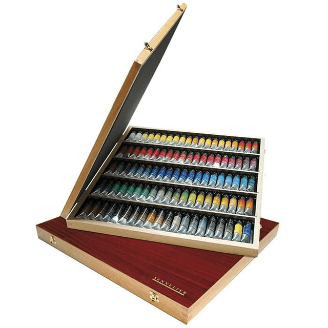 Caja de acuarela de artistas Sennelier L'Aquarelle, 98 colores
