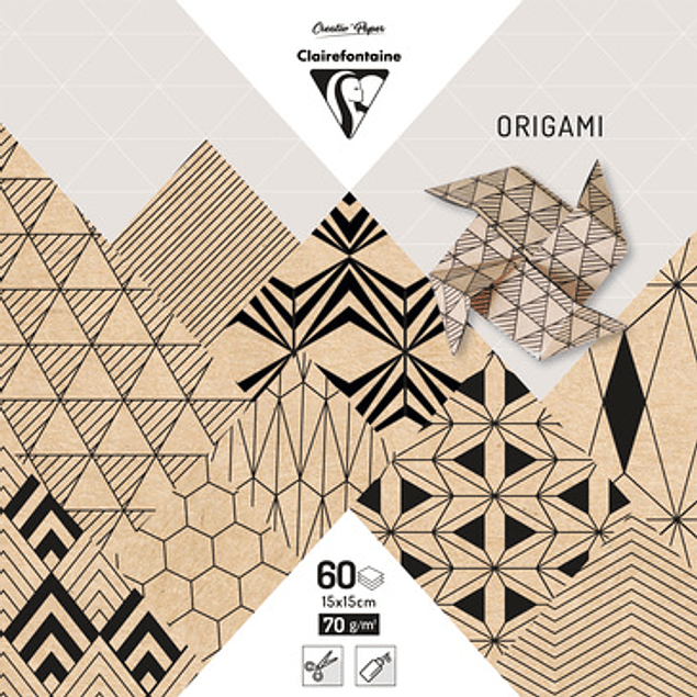ORIGAMI pack 60 hojas 15x15 - Krafty