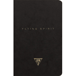 Clairefontaine Flying Spirit - Cuaderno (lomo cosido, lomo negro, 11 x 17 cm, forrado, 48 hojas, 90 g)