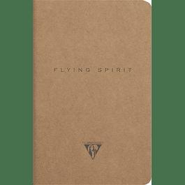 Flying Spirit – Cuaderno líneas 11 x 17 cm, 96 páginas, marfil 90g Kraft