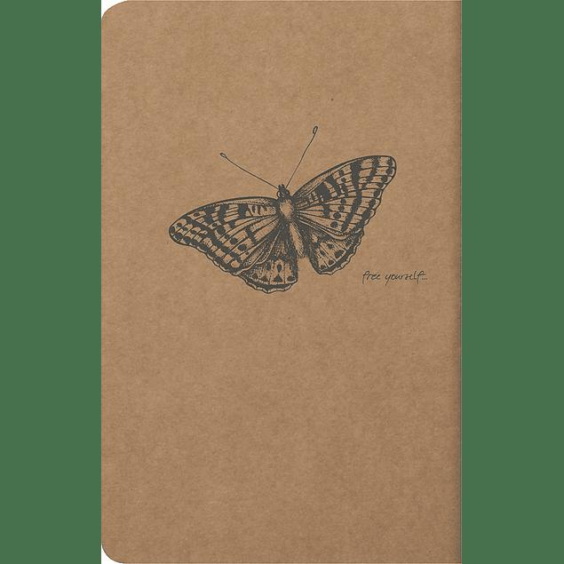 Flying Spirit – Cuaderno líneas A5, 96 páginas, marfil 90g Kraft