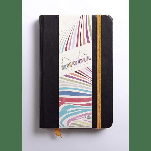Rhodiarama A6 96 páginas, croquis, Negro