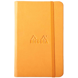 Rhodiarama A6 96 páginas, croquis, Naranjo