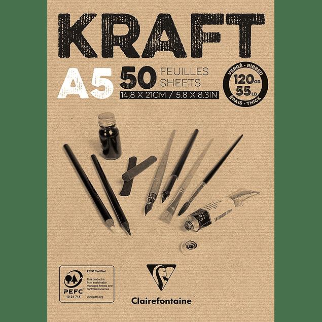 Bloc encolado de Papel Kraft 120 g - (3 tamaños)