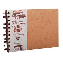 Álbum de viaje Age Bag 21x14,8 80p hojas negras 160g