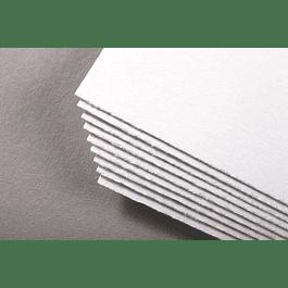 Pliego Fontaine 100% algodón, calidad profesional. 56x76cm 535g grain torchon Blanc