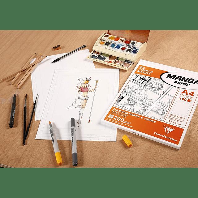 Papel Manga Multi-Técnica con hojas en blanco (2 tamaños)