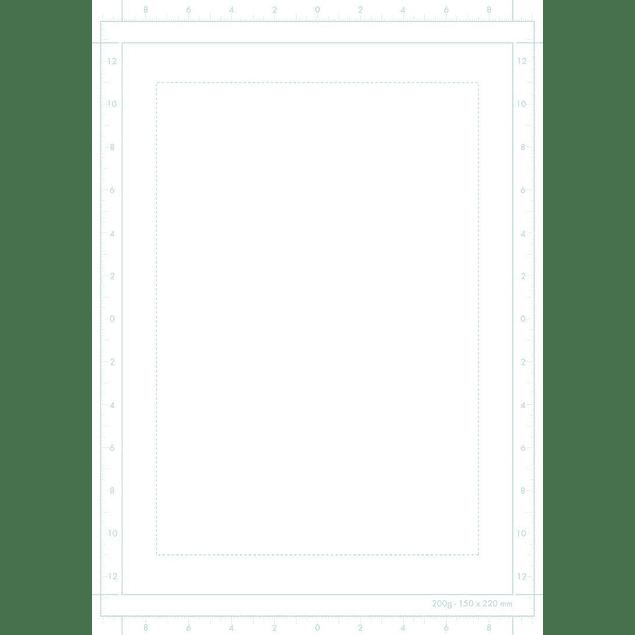 Papel Manga Multi-Técnica con marco simple (2 tamaños)