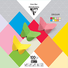 PaperTouch Origami Paper, 80 g, 20 x 20 cm, 100 hojas, colores surtidos