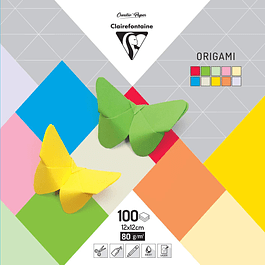 Papel Origami PaperTouch, 80 g, 12 x 12 cm, 100 hojas, colores surtidos