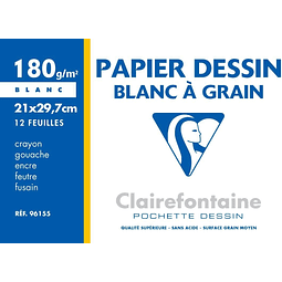 "Papel Granulado ""Blanc a Grain"" 180 g - (3 tamaños)"