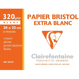 "Papel ""Bristol"" Extra Blanco - 24 x 32 cm"