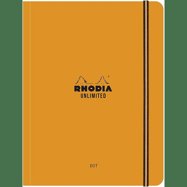 """Cuaderno Rhodia """"Unlimited"""" con cierre elástico (2 colores)"""