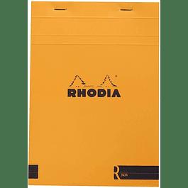 Rhodia R hojas blancas, No19 A4+ - Naranjo