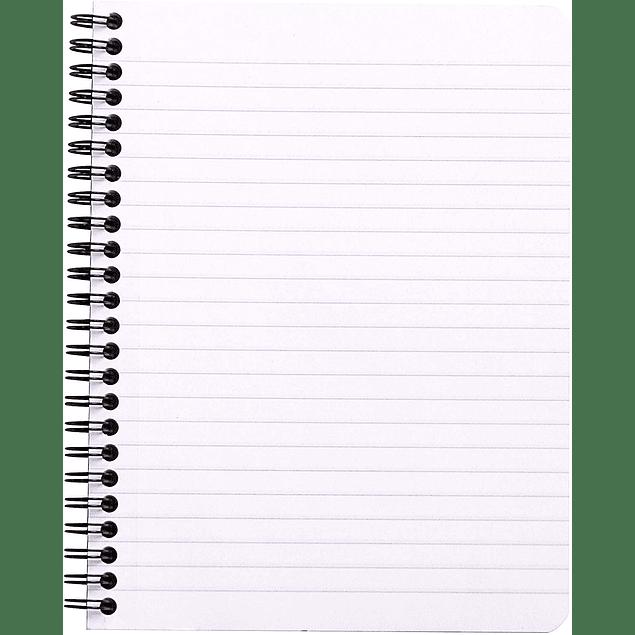 Cuaderno Doble Espiral - 16 x 21 cm - (Blanco)