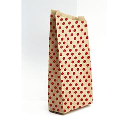 Bolsas de papel kraft, 21x37 + 7cm - puntitos