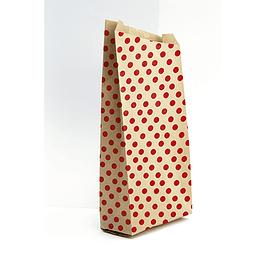 Bolsas de papel kraft, 21x37 + 7cm, puntitos