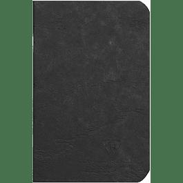 Cuaderno A6 Age - 9 x 14 cm, Hojas Blancas, Color Negro