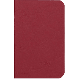Cuaderno A6 Age - 9 x 14 cm, Hojas Blancas, Color Rojo
