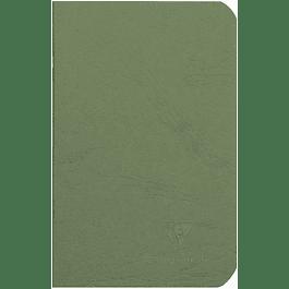 Cuaderno A6 Age - 9 x 14 cm, Hojas Blancas, Color Verde
