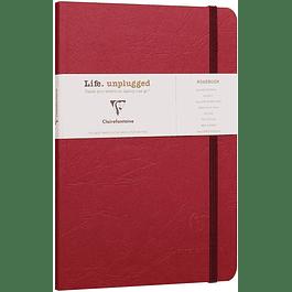 Clairefontaine Age A5 Roadbook Bag, Cuadros, 128 páginas, Rojo