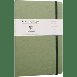Clairefontaine Age A5 Roadbook Bag, Cuadros, 128 páginas, Verde