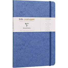 Clairefontaine Age A5 Roadbook Bag, Cuadros, 128 páginas, Azul