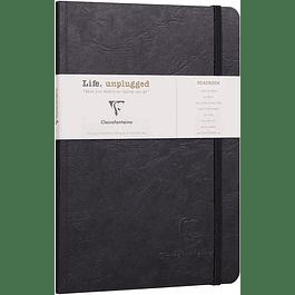 Clairefontaine Age A5 Roadbook Bag, Líneas, 128 páginas, Negro