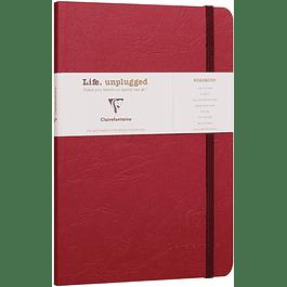 Clairefontaine Age A5 Roadbook Bag, Líneas, 128 páginas, Rojo